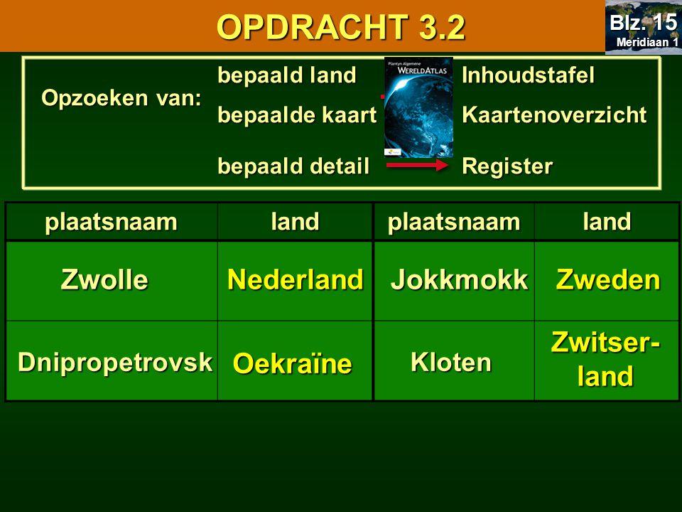 OPDRACHT 3.2 3.3 Gebruik van de atlas Zwolle Nederland Jokkmokk Zweden