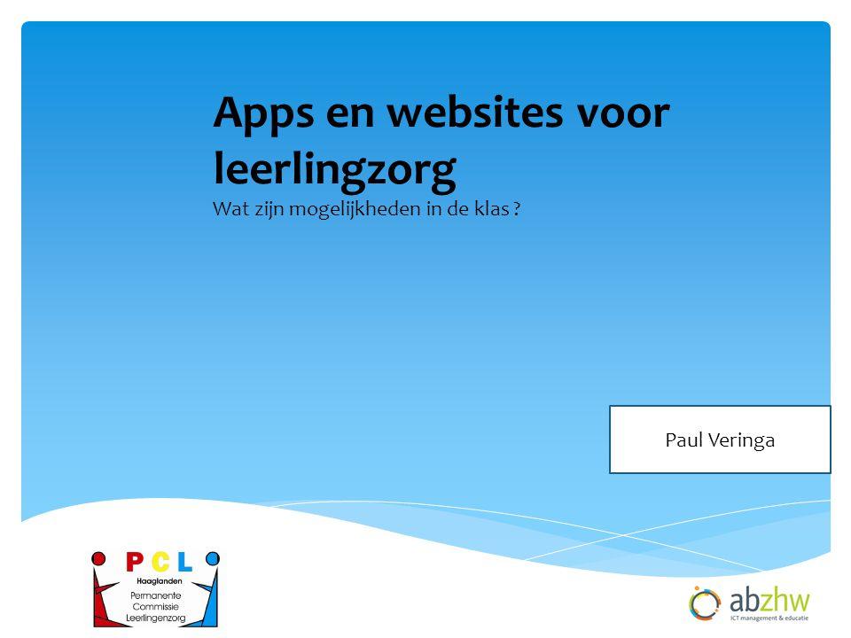 Apps en websites voor leerlingzorg