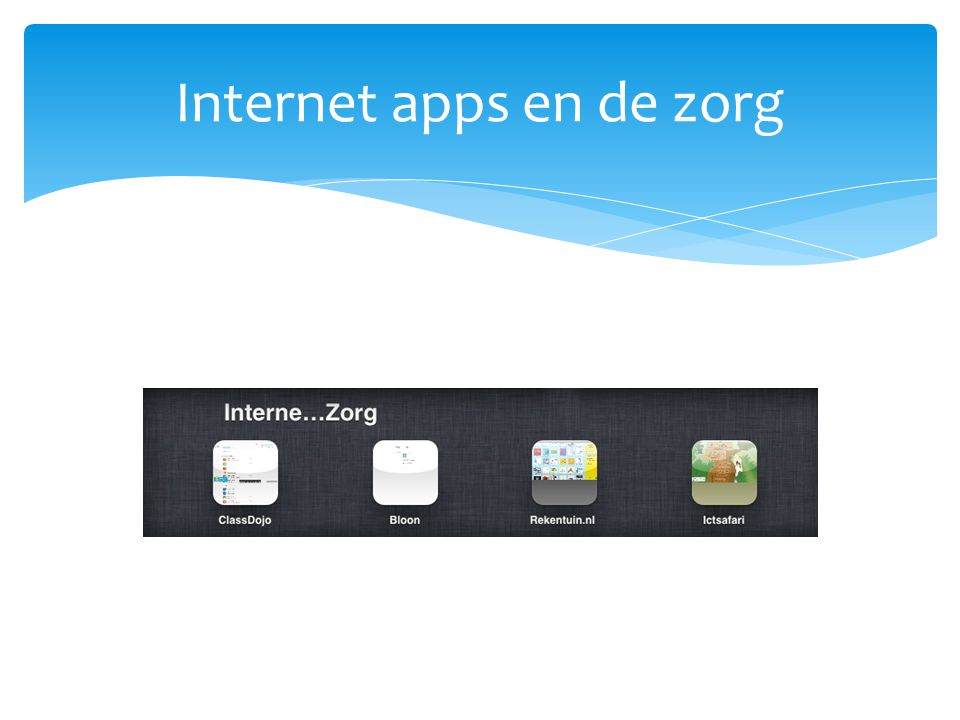 Internet apps en de zorg