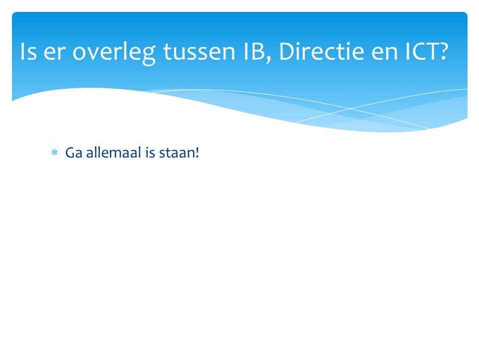 Is er overleg tussen IB, Directie en ICT