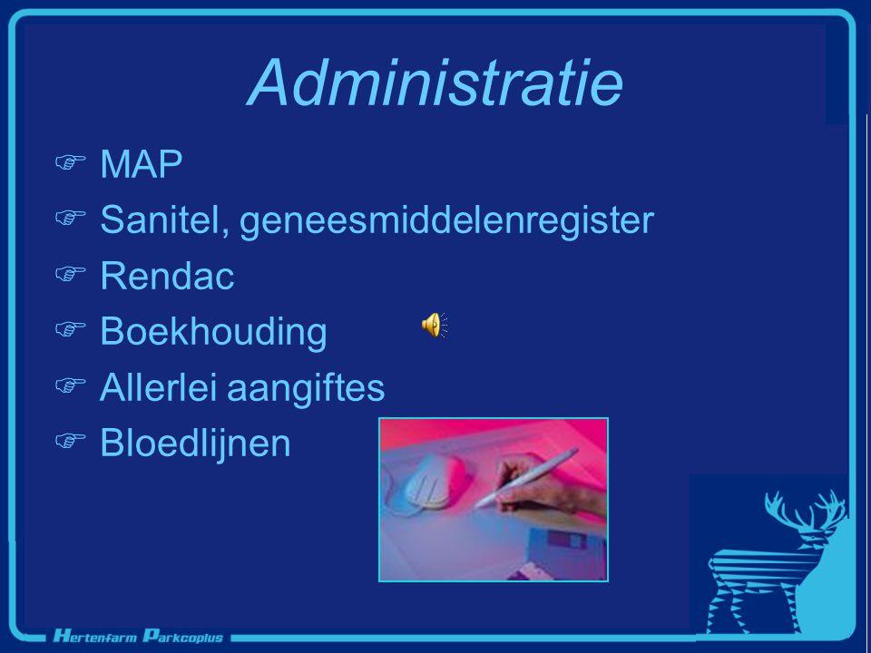 Administratie MAP Sanitel, geneesmiddelenregister Rendac Boekhouding
