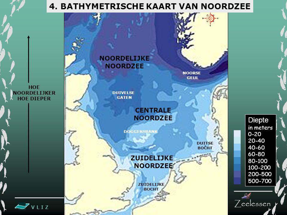4. BATHYMETRISCHE KAART VAN NOORDZEE