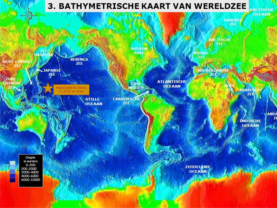 3. BATHYMETRISCHE KAART VAN WERELDZEE