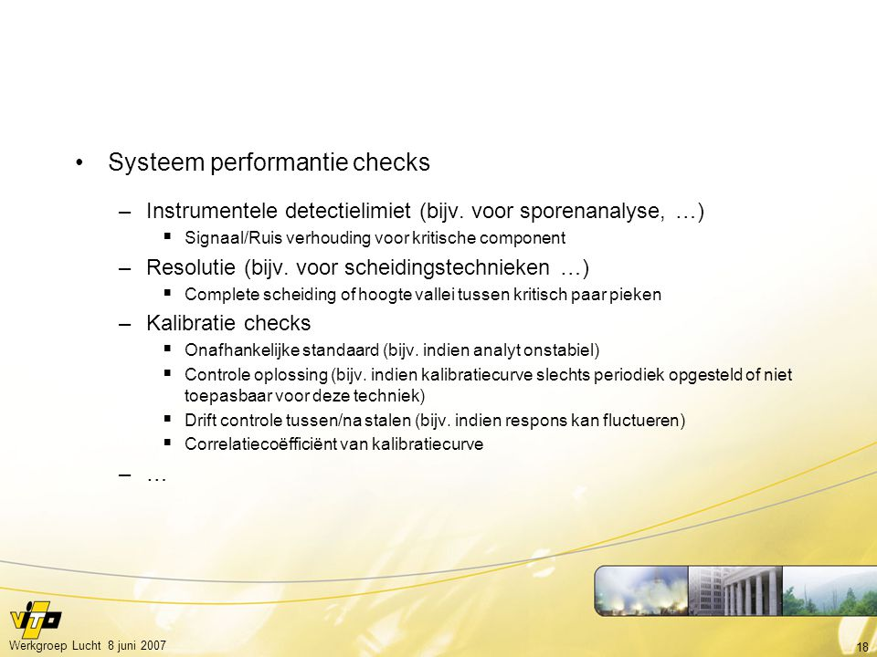 Systeem performantie checks
