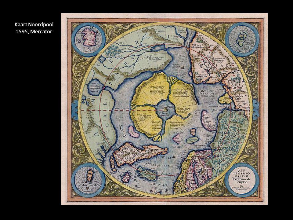 Kaart Noordpool 1595, Mercator