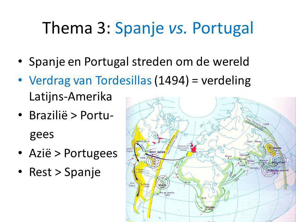 Thema 3: Spanje vs. Portugal