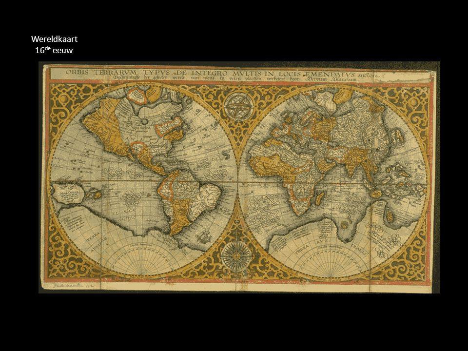 Wereldkaart 16de eeuw