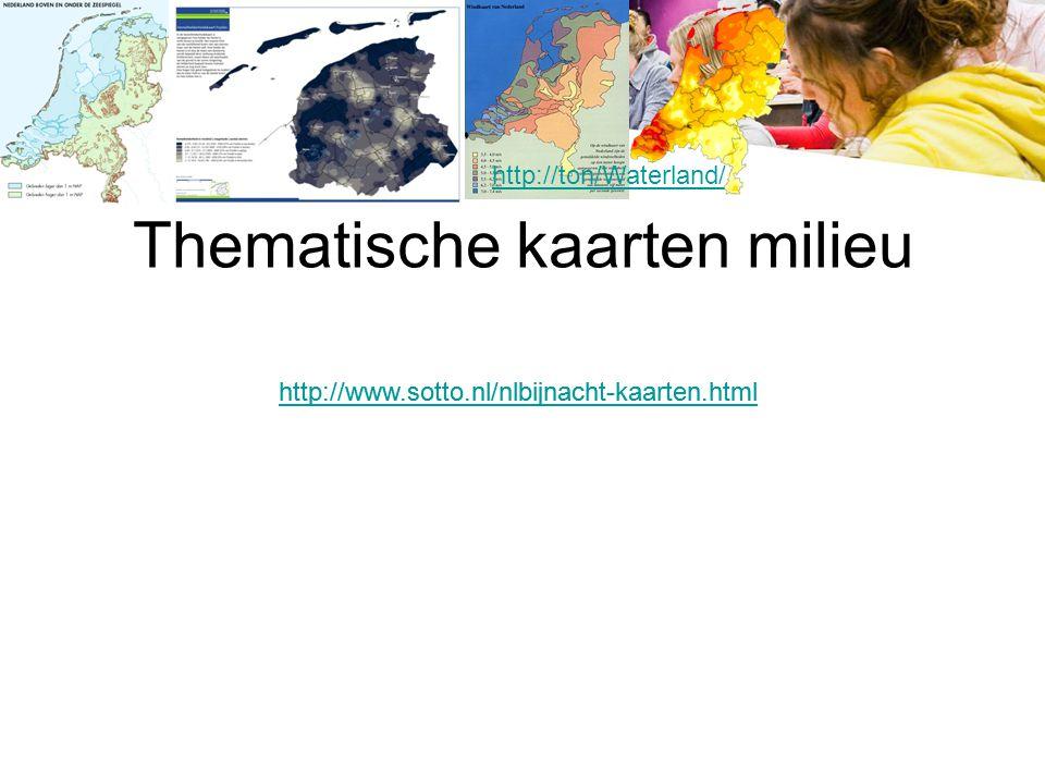 Thematische kaarten milieu