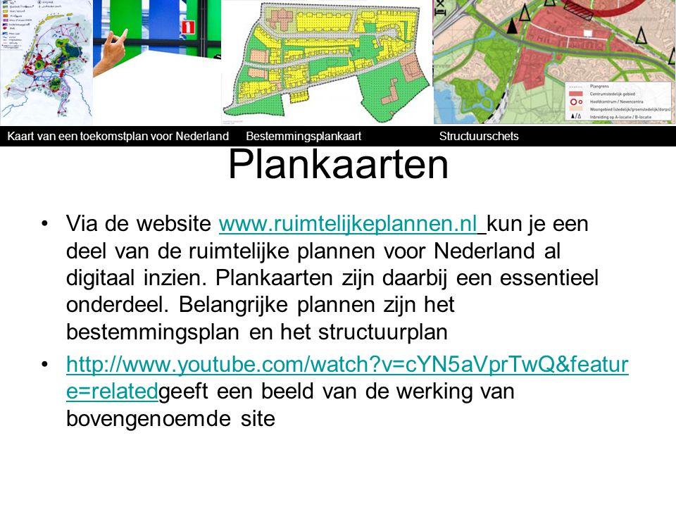 Kaart van een toekomstplan voor Nederland Bestemmingsplankaart Structuurschets