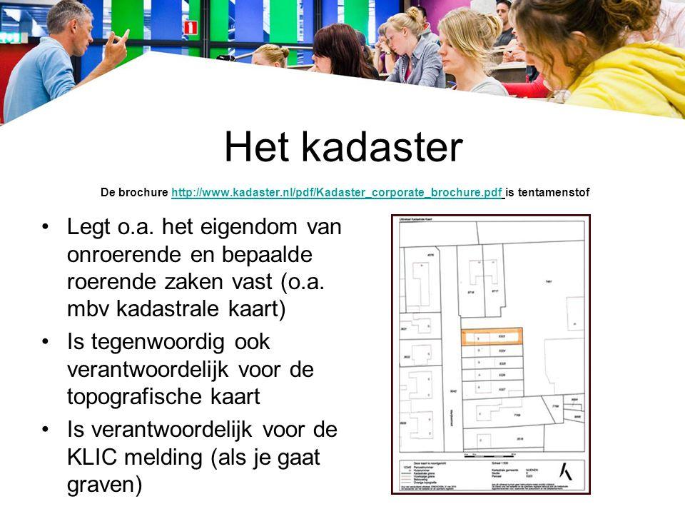 Het kadaster De brochure http://www. kadaster