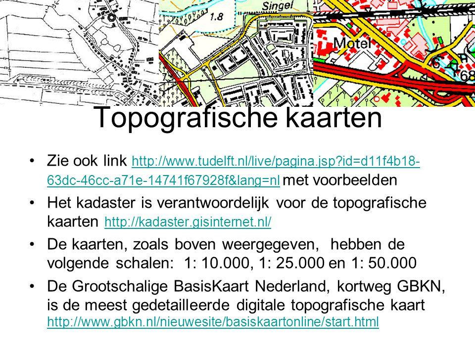 Topografische kaarten
