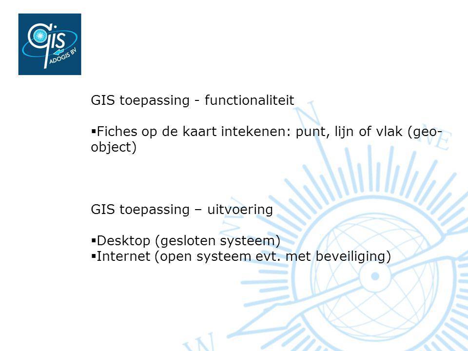 GIS toepassing - functionaliteit
