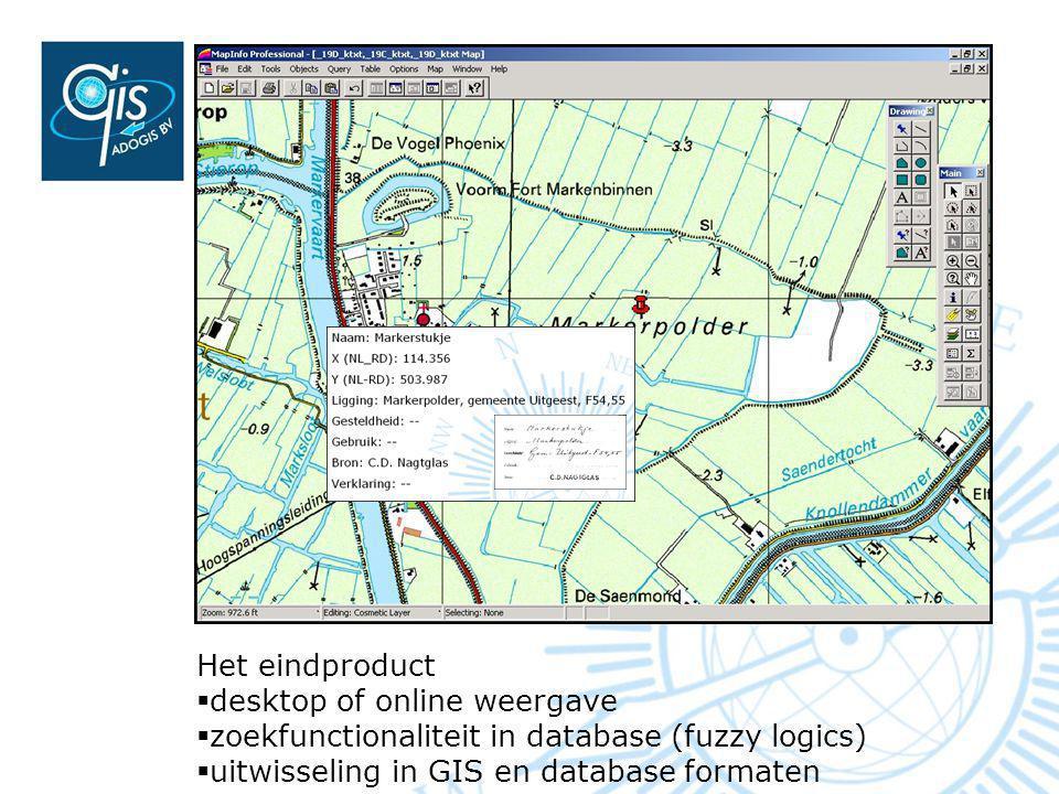 Het eindproduct desktop of online weergave.