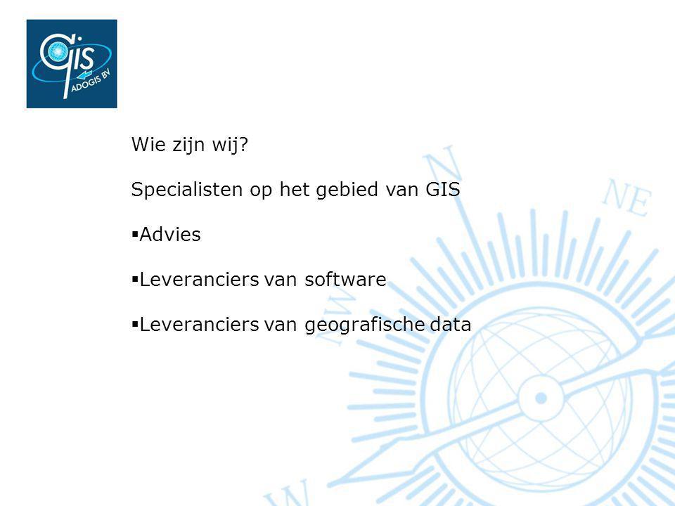 Wie zijn wij. Specialisten op het gebied van GIS.