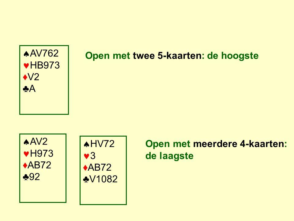 AV762 HB973 ♦V2 ♣A