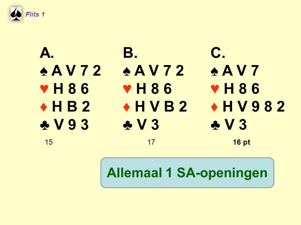 Allemaal 1 SA-openingen