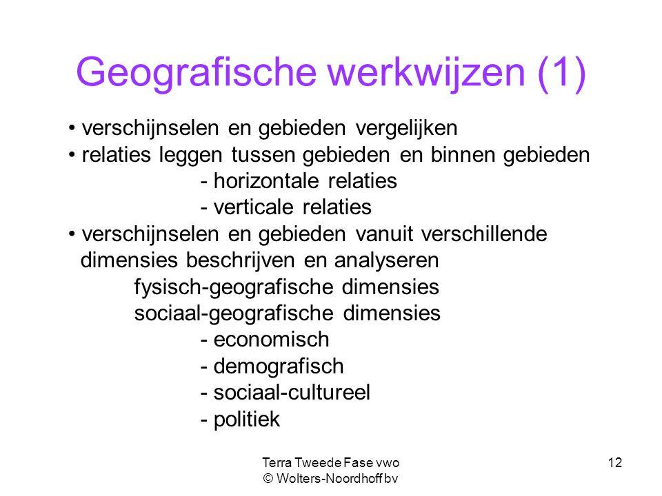 Geografische werkwijzen (1)