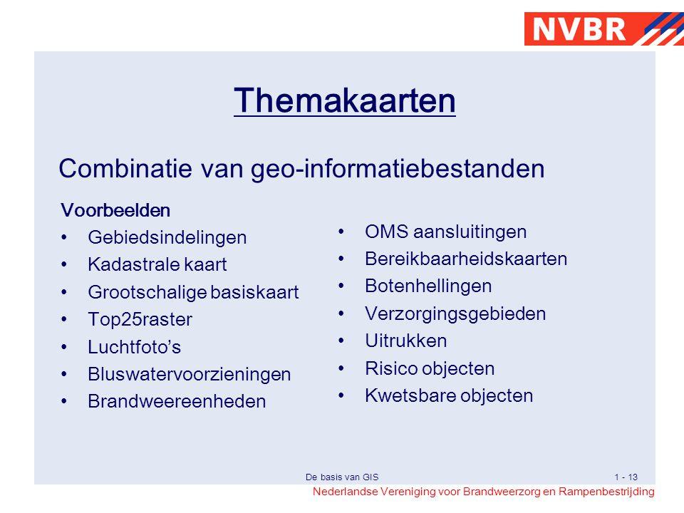 Themakaarten Combinatie van geo-informatiebestanden Voorbeelden
