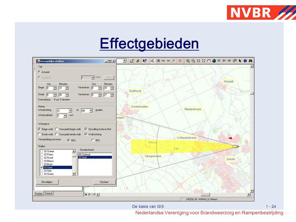 Effectgebieden Bij de bestrijding van ongevallen met gevaarlijke stoffen of het oefen daarvan kan een goed gebruik worden gemaakt van GIS.