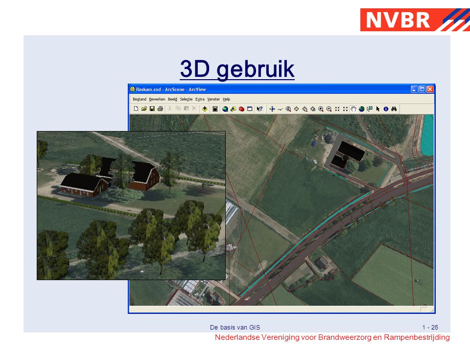 3D gebruik Eenvoudig voorbeeld van 3D-gebruik voor de oriëntatie, evaluatie en dergelijke.