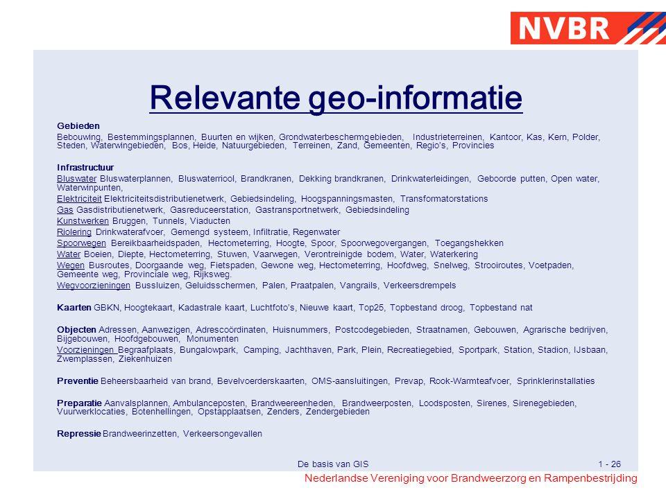 Relevante geo-informatie