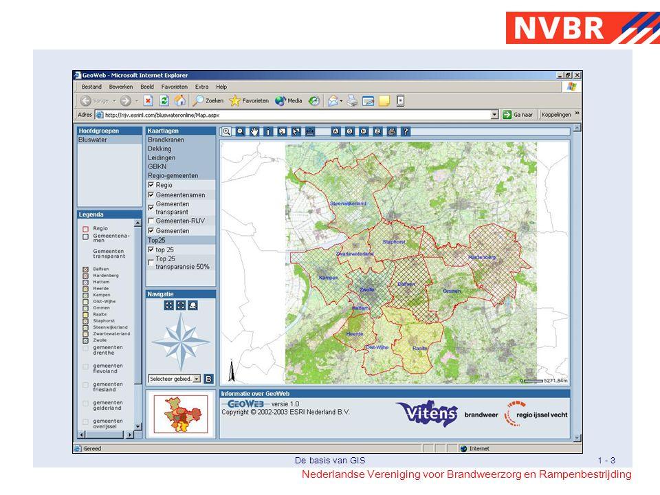 Dit is een scherm van een web-applicatie met GIS-functionaliteit.