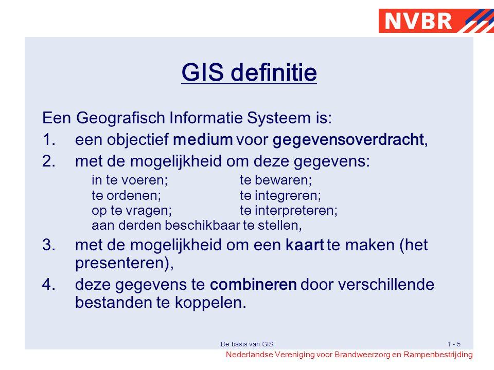 GIS definitie Een Geografisch Informatie Systeem is: