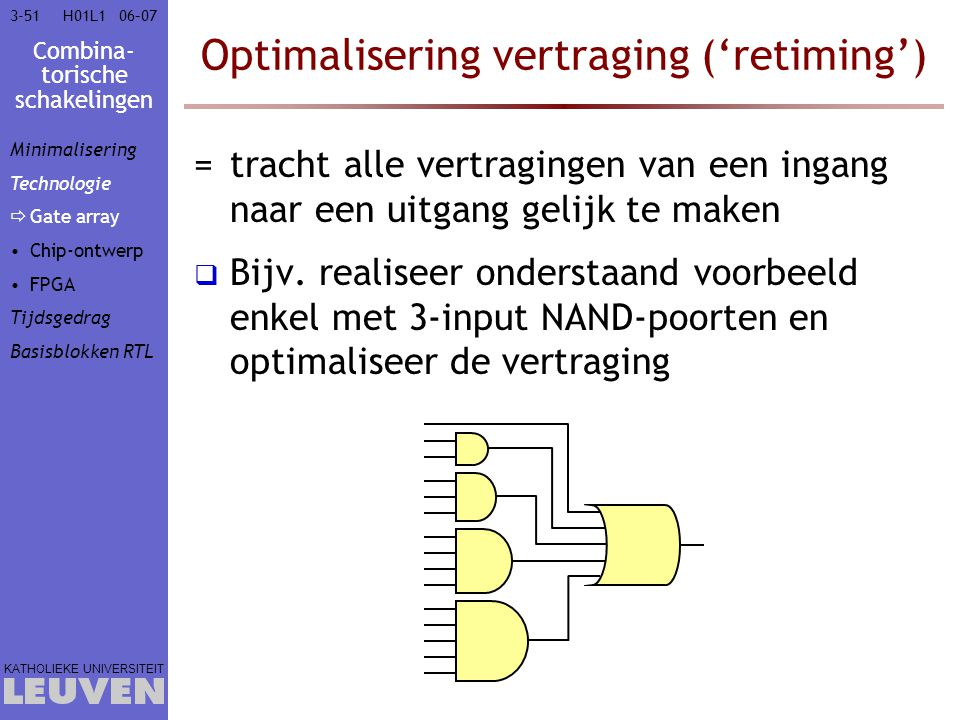 Optimalisering vertraging ('retiming')