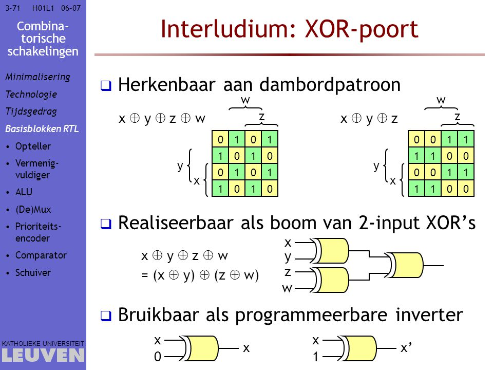 Interludium: XOR-poort