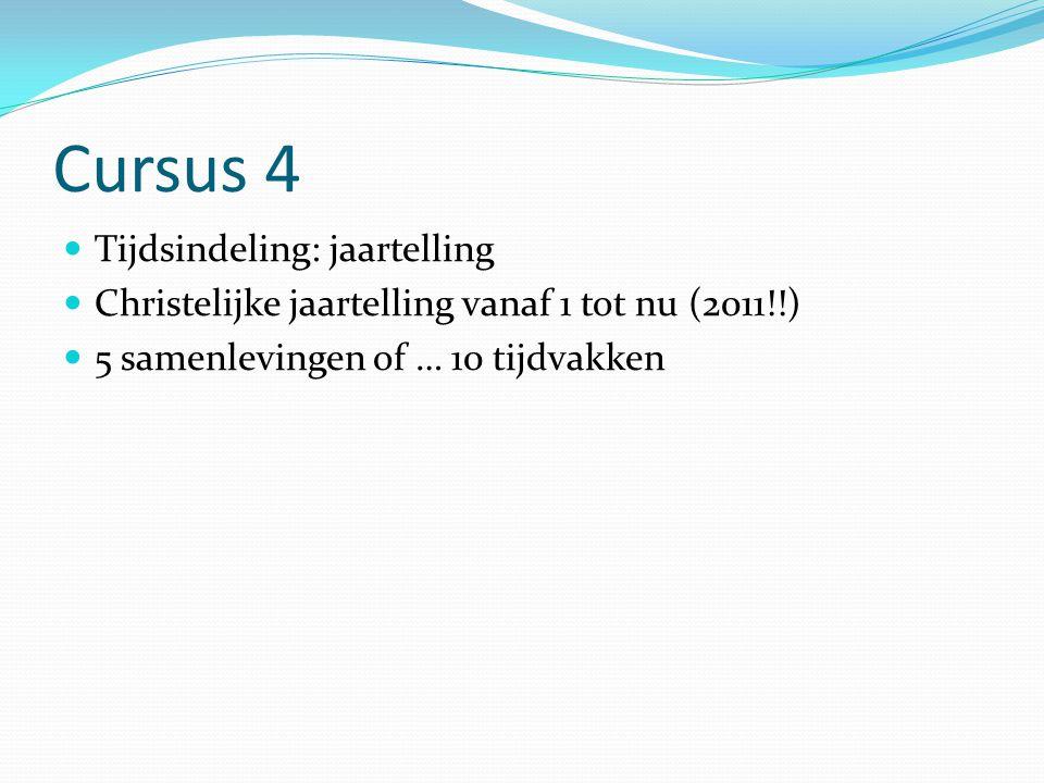 Cursus 4 Tijdsindeling: jaartelling