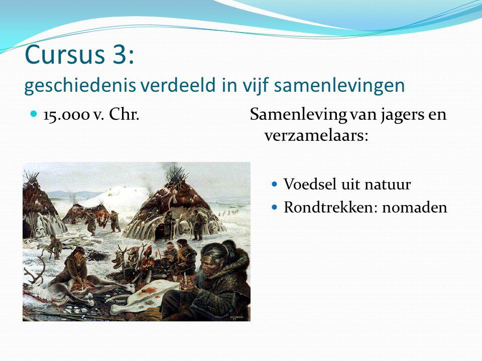 Cursus 3: geschiedenis verdeeld in vijf samenlevingen