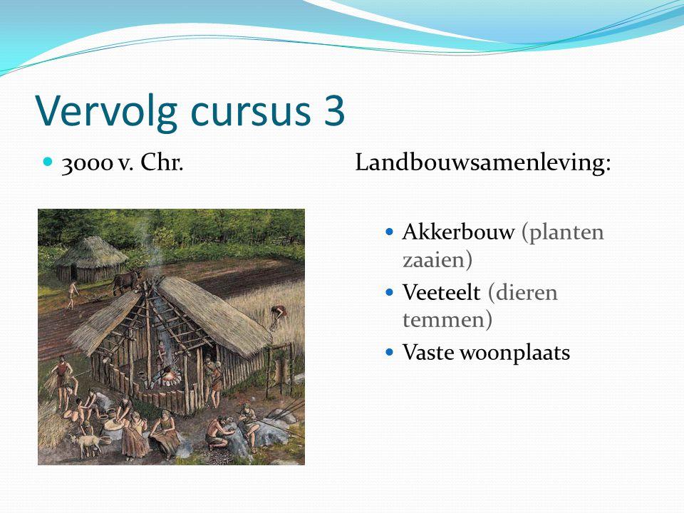 Vervolg cursus 3 3000 v. Chr. Landbouwsamenleving: