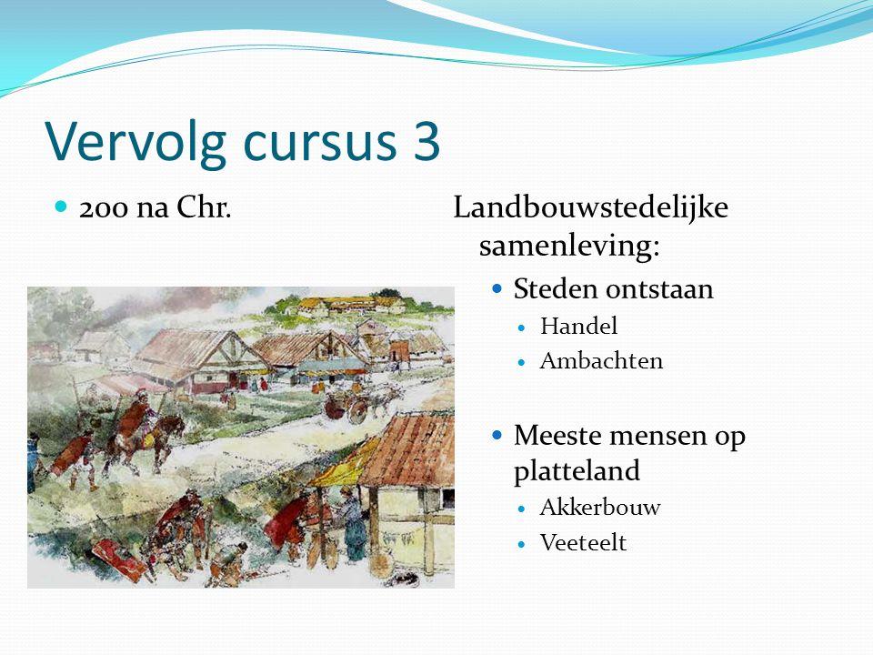 Vervolg cursus 3 200 na Chr. Landbouwstedelijke samenleving: