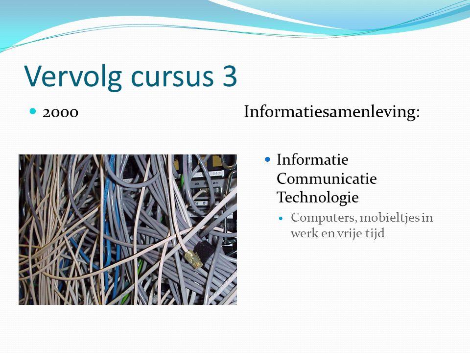 Vervolg cursus 3 2000 Informatiesamenleving:
