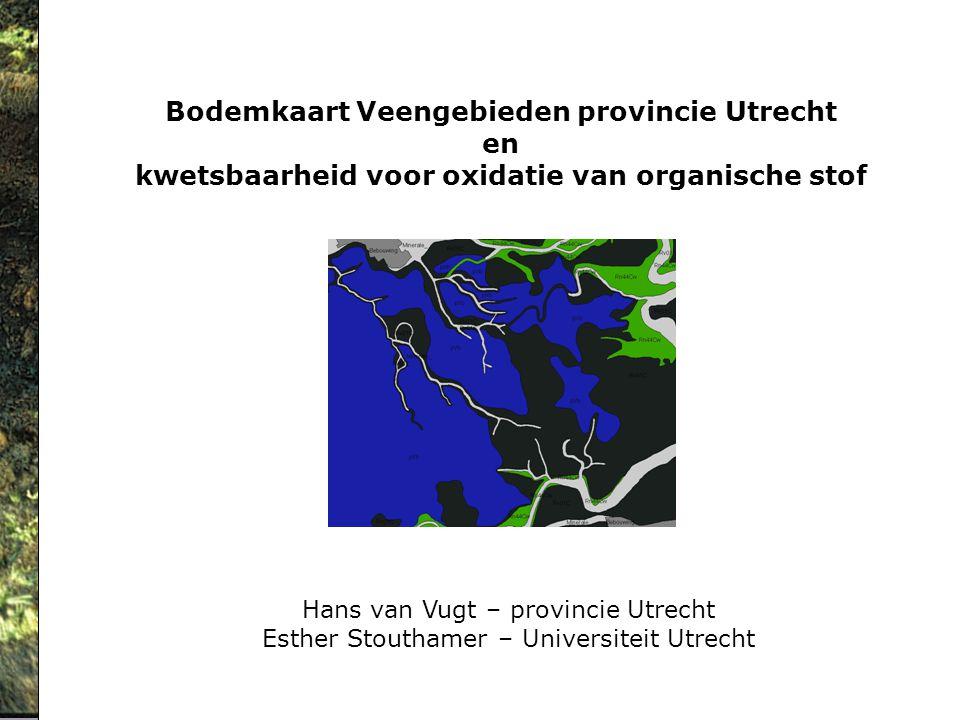 Bodemkaart Veengebieden provincie Utrecht en