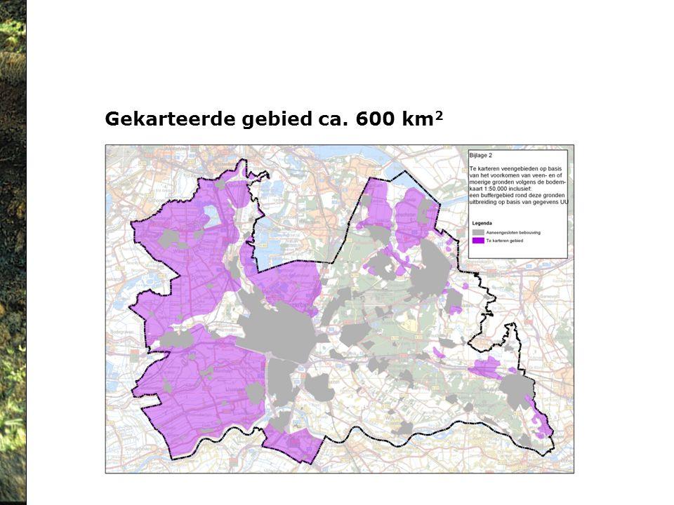 Gekarteerde gebied ca. 600 km2