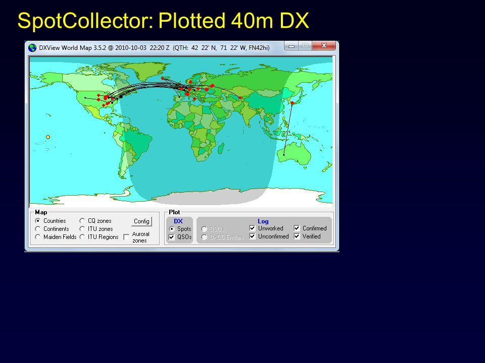 SpotCollector: Plotted 40m DX
