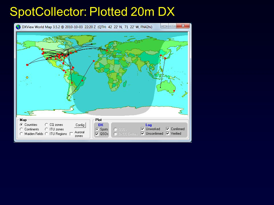 SpotCollector: Plotted 20m DX