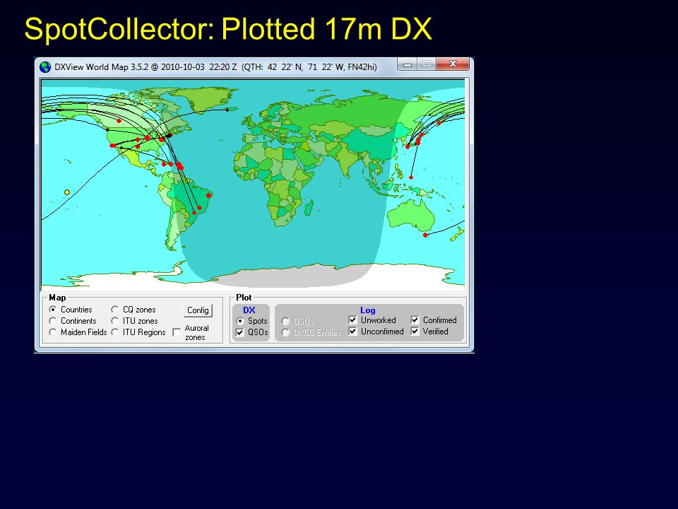 SpotCollector: Plotted 17m DX