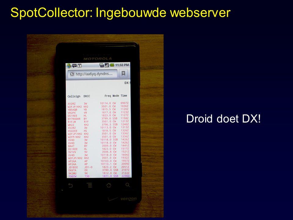 SpotCollector: Ingebouwde webserver