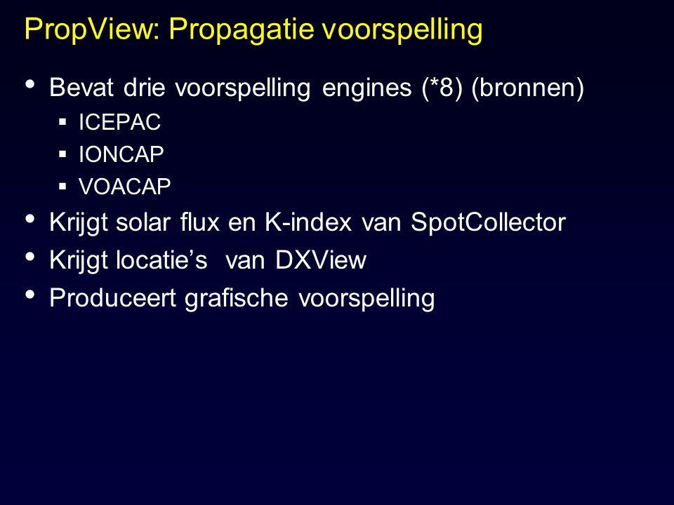 PropView: Propagatie voorspelling