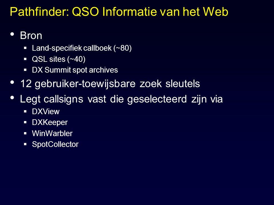Pathfinder: QSO Informatie van het Web