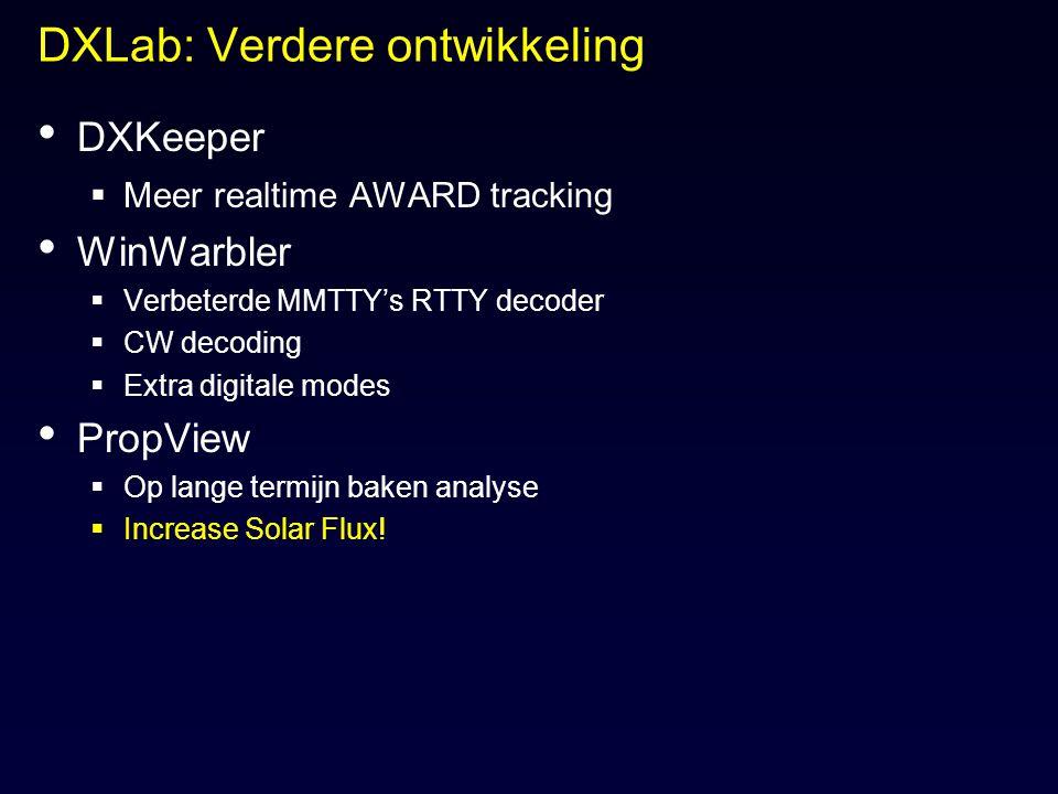 DXLab: Verdere ontwikkeling