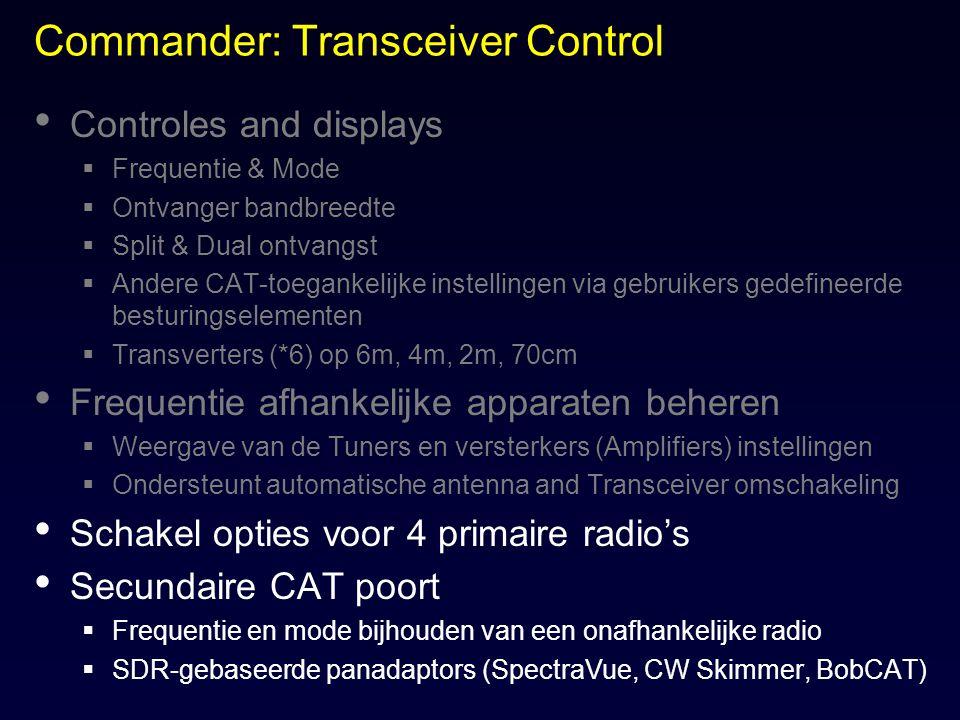 Commander: Transceiver Control