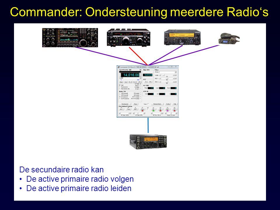 Commander: Ondersteuning meerdere Radio's