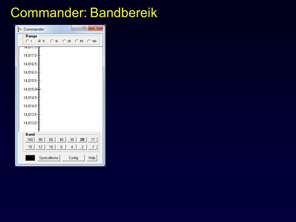 Commander: Bandbereik
