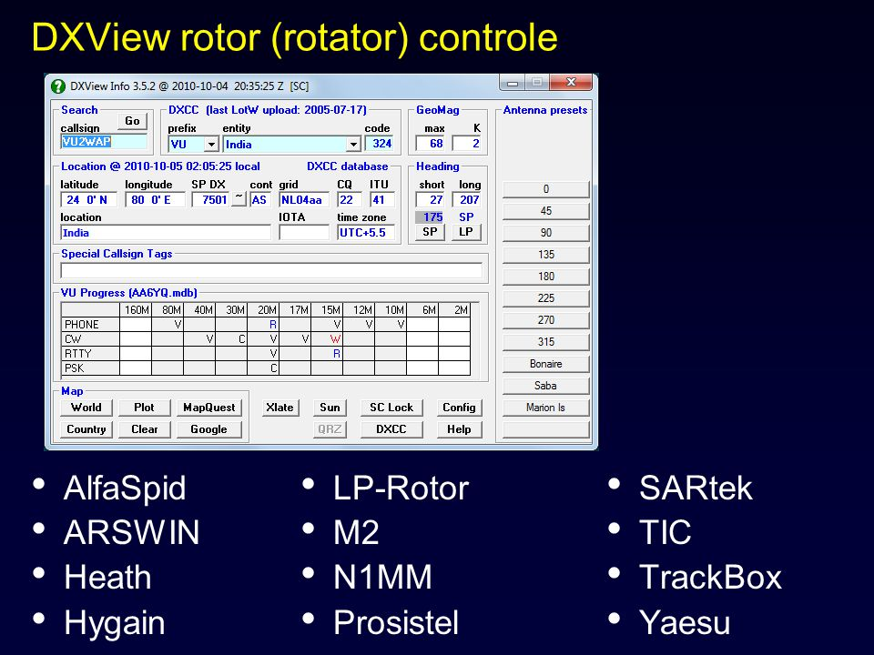 DXView rotor (rotator) controle