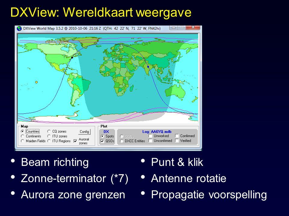 DXView: Wereldkaart weergave