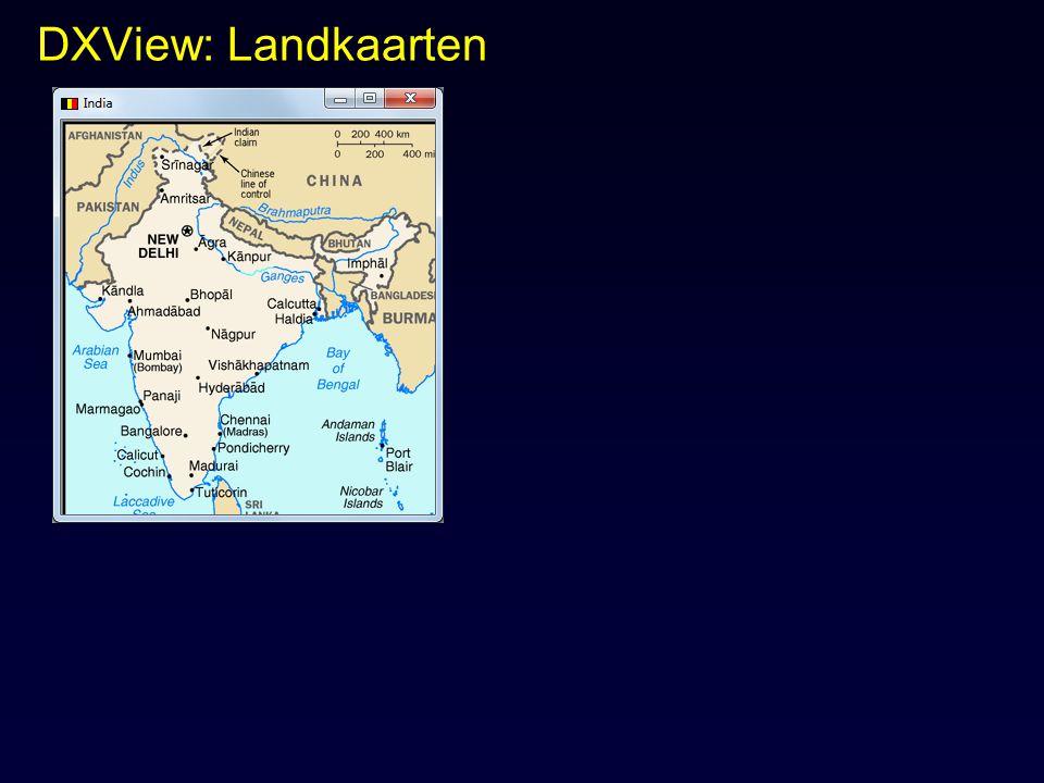 DXView: Landkaarten