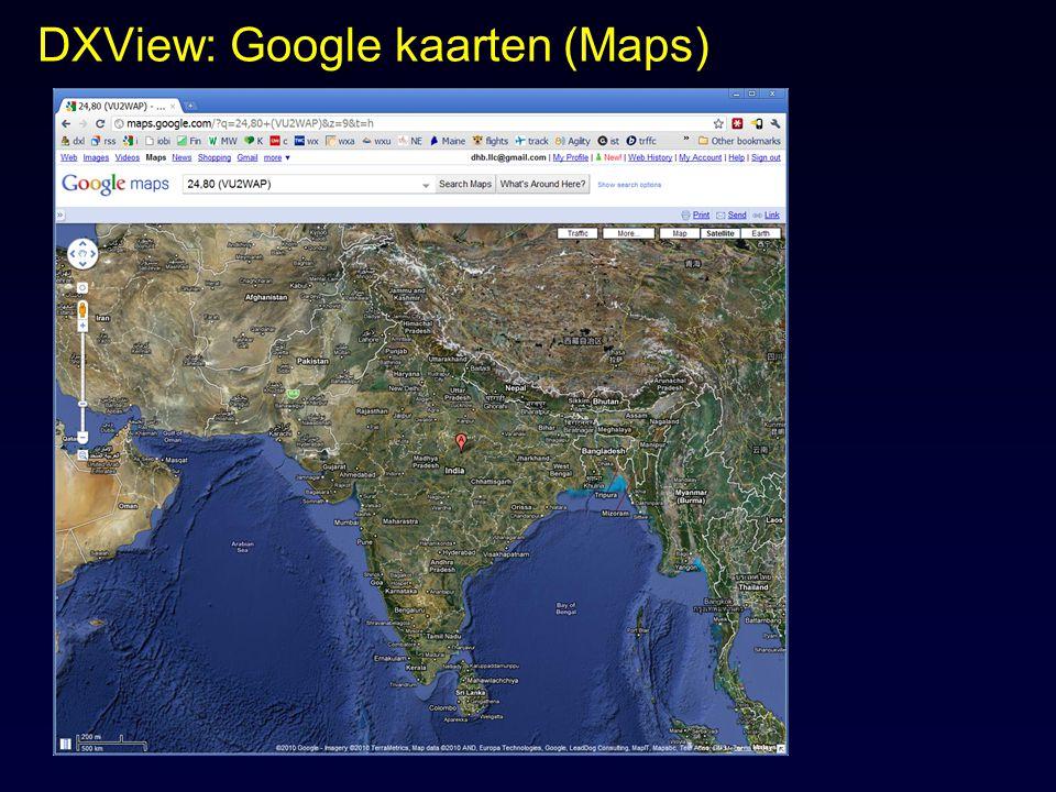 DXView: Google kaarten (Maps)